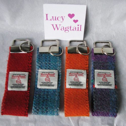 Selection of Harris Tweed Key Fobs