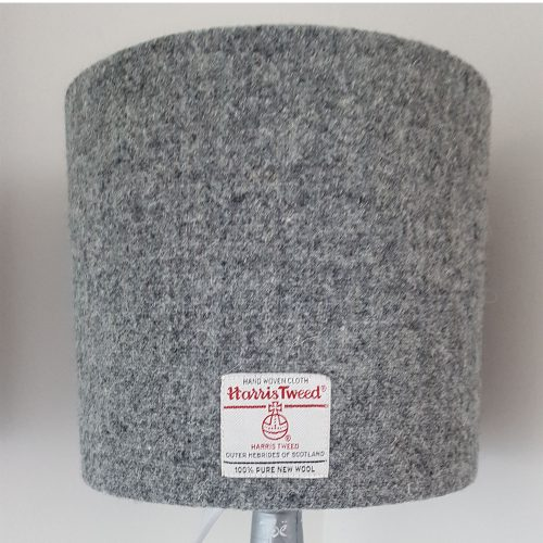 Grey Harris Tweed Lamp shade