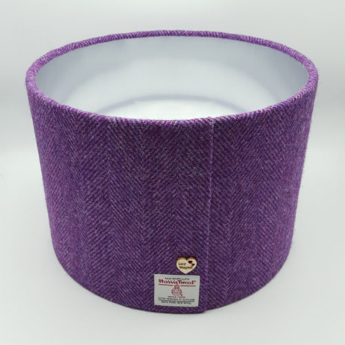 Purple Herringbone Harris Tweed with Brushed Silver Lining
